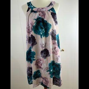 H&M Dresses - H & M 14 dress sundress green purple floral